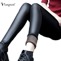 TANGNEST 2016 New Autumn Winter Slim Warm Women Leggings Black Solid Color Ankle Length Pencil Legging WSS376