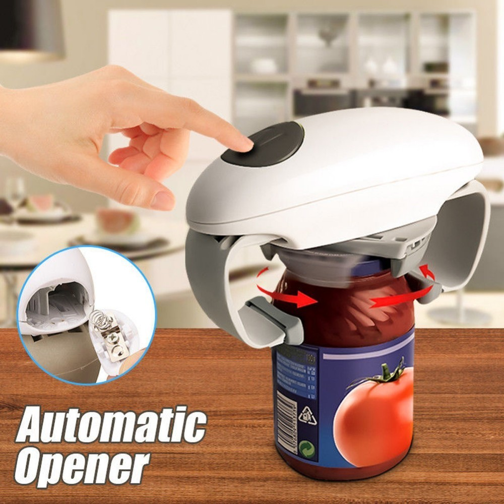 Automatic Jar And Tin Opener And Electric Can And Bottle Opener Kitchen Gadget 9