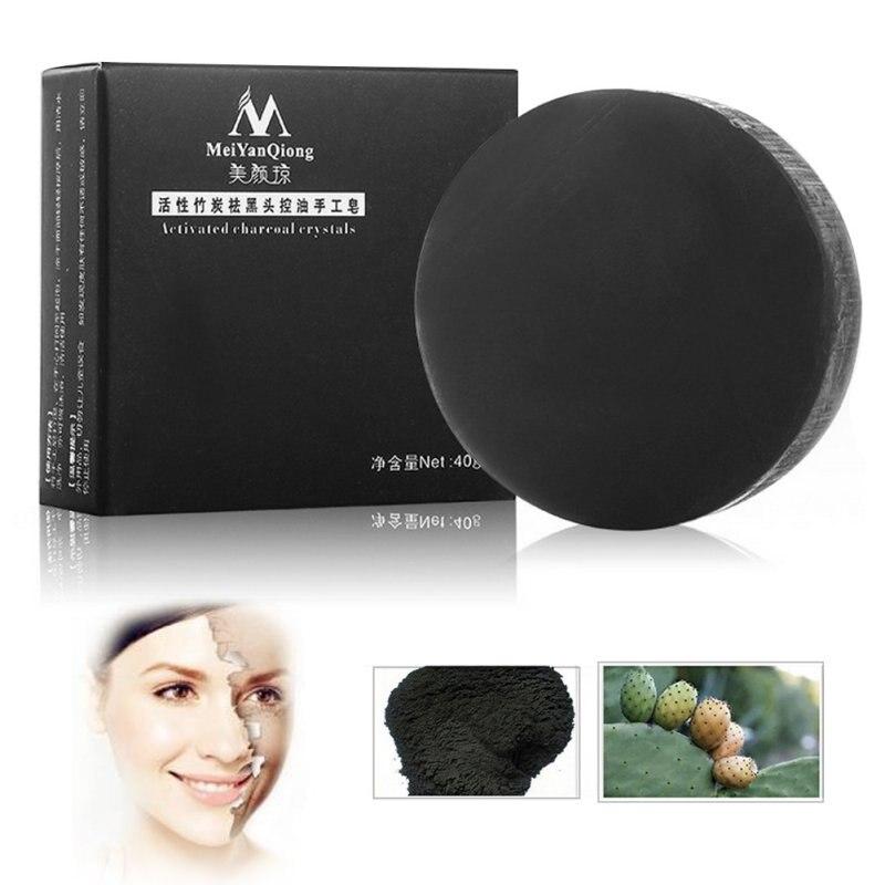 Handmade Soap Remove Blackhead Oil Control Bamboo Charcoal Soap