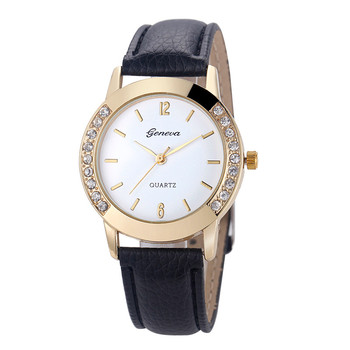 Splendid Hot Sales Women Diamond Analog Leather Quartz Wrist Watch Watches,business,Classic,simple,Girl,round,luxury, image