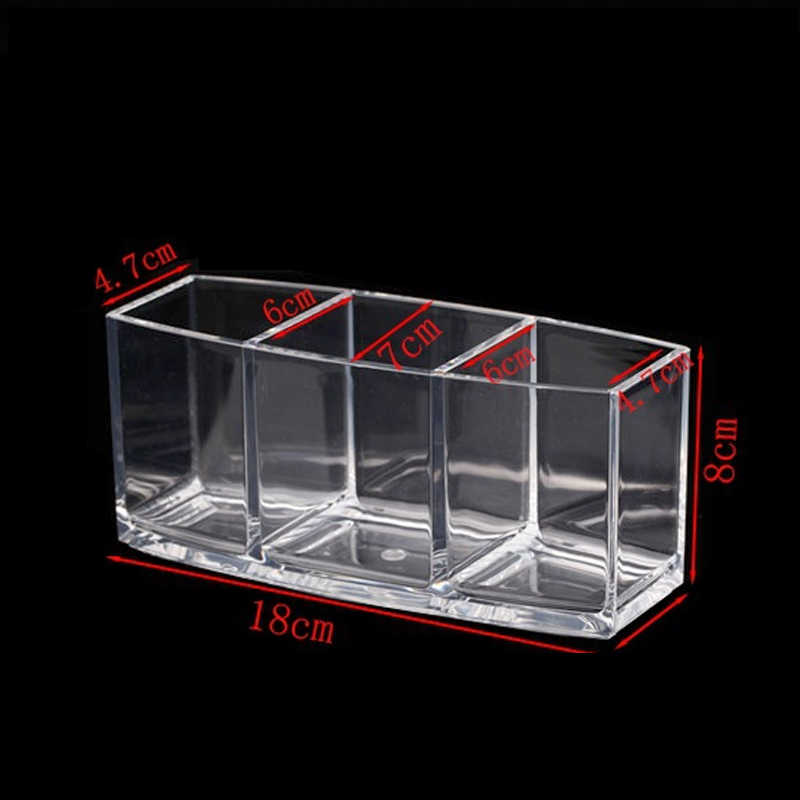 アクリル化粧オーガナイザー化粧品ホルダーメイクアップツール収納ボックス Organizadora ブラシとアクセサリーオーガナイザーボックス