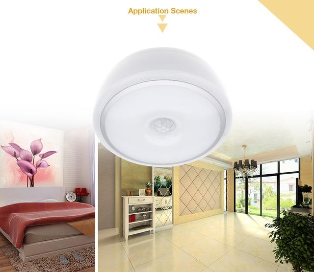 Led Ceiling Light Household Office Lighting 12w E27 Pir Infrared Motion Sensor Flush Mounted For