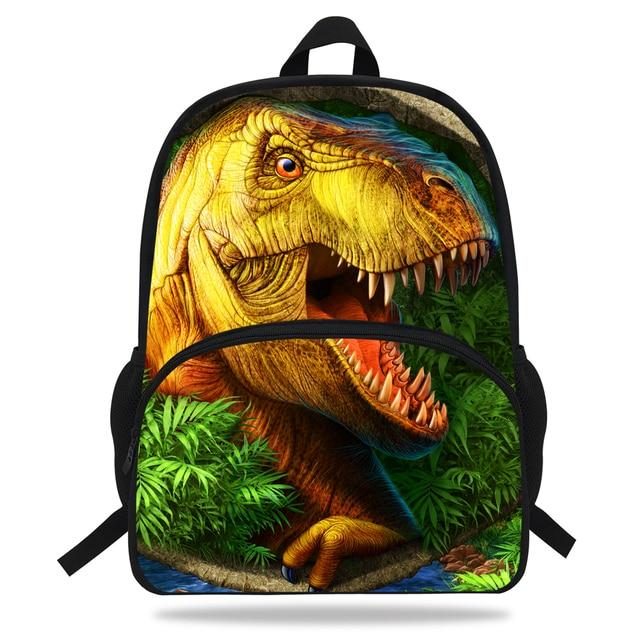 376d2ded9cd 16-inch Popular Children Animal Bag Dinosaur School Bag For Kids Boys Girls  Teenagers Book Bags