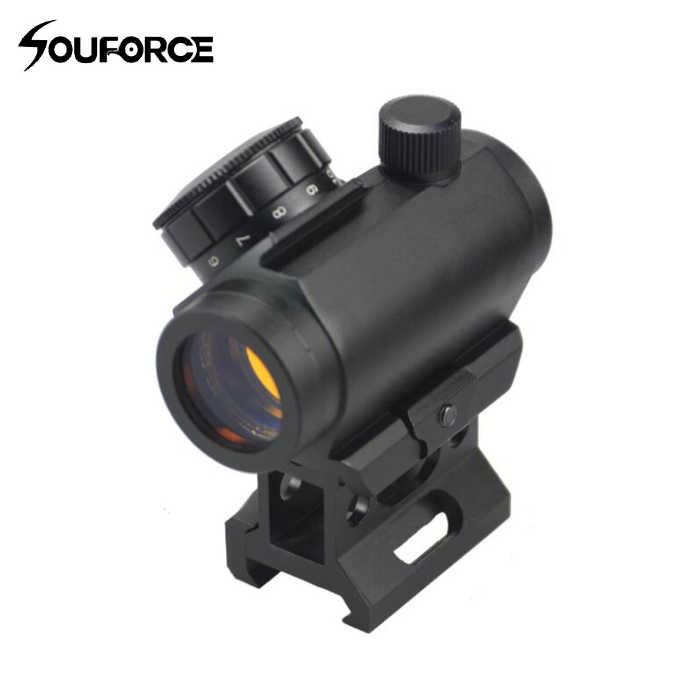 Tactical Optics 1x28 Mm Red Dot Scope Sight With Low High Rail Mount For Rifles Scope Hunting