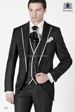 Ternos Masculino 2015 Men Wedding Dress Slim Fit Suits Tuxedos For Men Groomsmen Wedding Suits Bridegroom (Jacket+Pant+Vest)