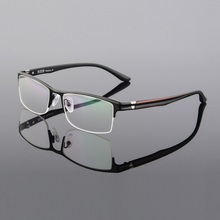 2015  spectacle frame Titanium alloy metal glasses half 1920 elegant ladies free shipping