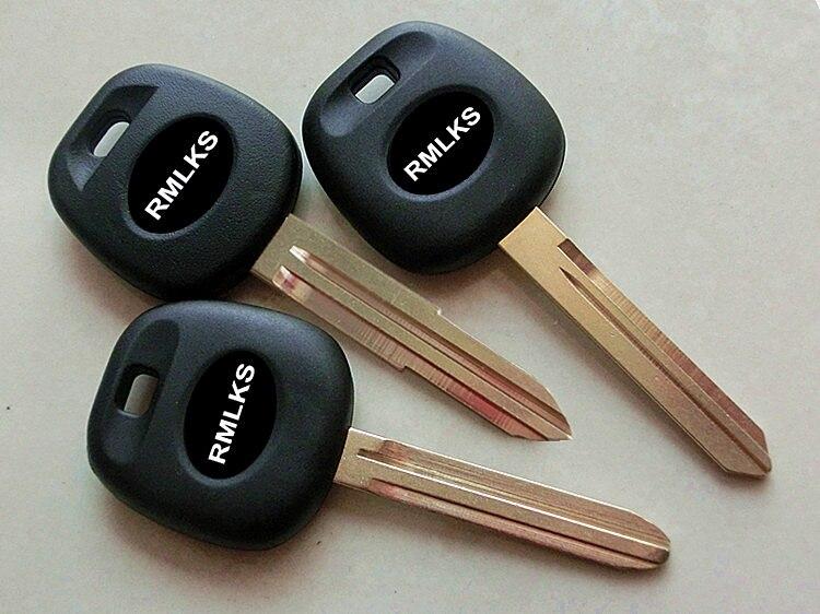 RMLKS Blank Transponder Key Shell For Toyota RAV4 PRADO COROLLA Camry Reiz Highlander Yaris Corolla Uncut Blade