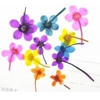 פרחי כלה בידה קטן פרחים מיובשים נייל/פנינה/שרשרת DIY קישוט 1 מארז/120 יחידות משלוח חינם