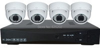 4CH 720P 1 0MP AHD Camera Kit Indoor Home Surveillance System 4 Dome Cameras Free Shipping