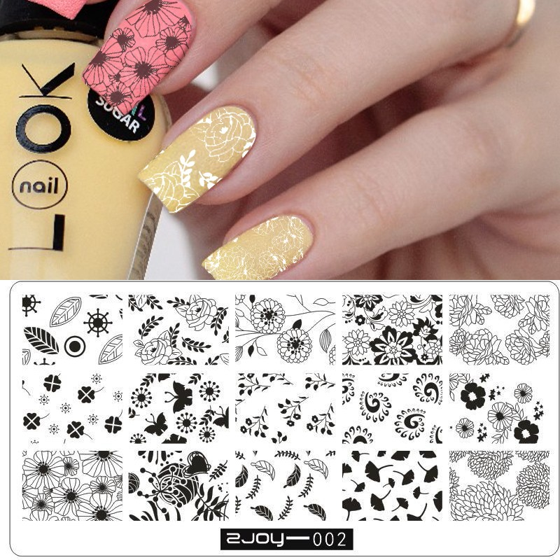 Dorable Diy Nail Stencils Adornment - Nail Art Design Ideas ...