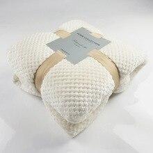 Warm Luxury Pure Mesh Blanket Baby Fleece Towel Sofa Pineapple Grille Flannel Throw For Home Bed Bedsheet