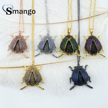 Women CZ Pendant Necklace,Fashion Jewelry, The Rainbow Series, Insects Shape, 6 Colors,Can Wholesale,3pcs