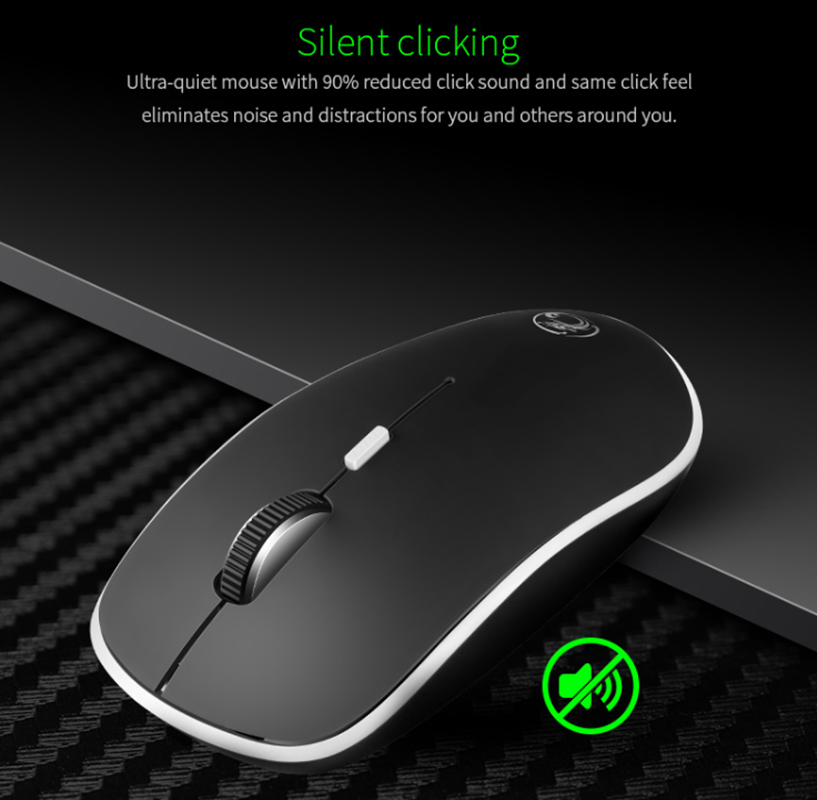 fb5e3f988d2 ... iMice Silent Wireless Mouse Ultra quiet Mice 2.4G Ergonomic Mouse  Noiseless Button With USB Receiver ...