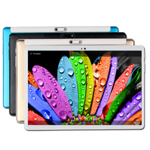 Tempered Glass 2.5D 10 Inch Tablet 4GB RAM 64GB Disk Android 7.0 10.1 Inch IPS Screen Octa Core GPS WiFi SIM PC Computer