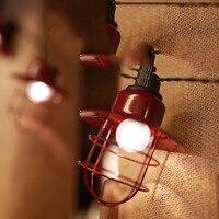 10Led Fairy Retro Red Kerosene Lanterns Battery Operated String Light 2m LED Decoration For Christmas Garland