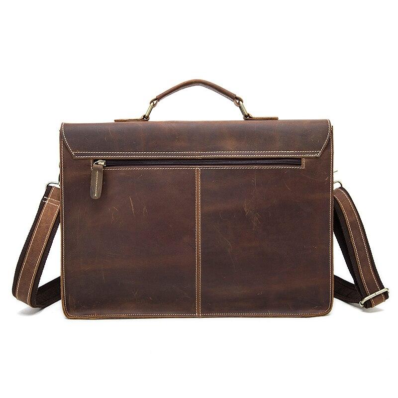 c6672adb586f AETOO ретро мужская кожаная большой емкости портфель Глава Сумка для  ноутбука crazy horse кожи 16 дюймов