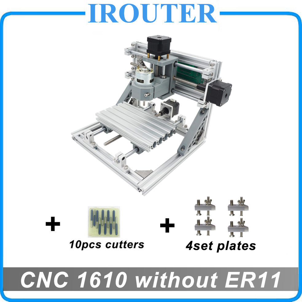 CNC 1610 without ER11 ,mini diy cnc laser engraving machine,Pcb Milling Machine,Wood Carving router,cnc1610,best Advanced toys eu free tax cnc router mini engraving machine diy mini 3axis wood router pcb drilling and milling machine