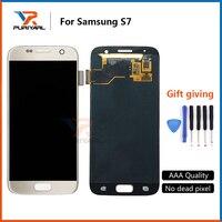 5pcs 100 Tested Super AMOLED Original LCD Screen For Samsung Galaxy S7 G930 G930F Display Digitizer