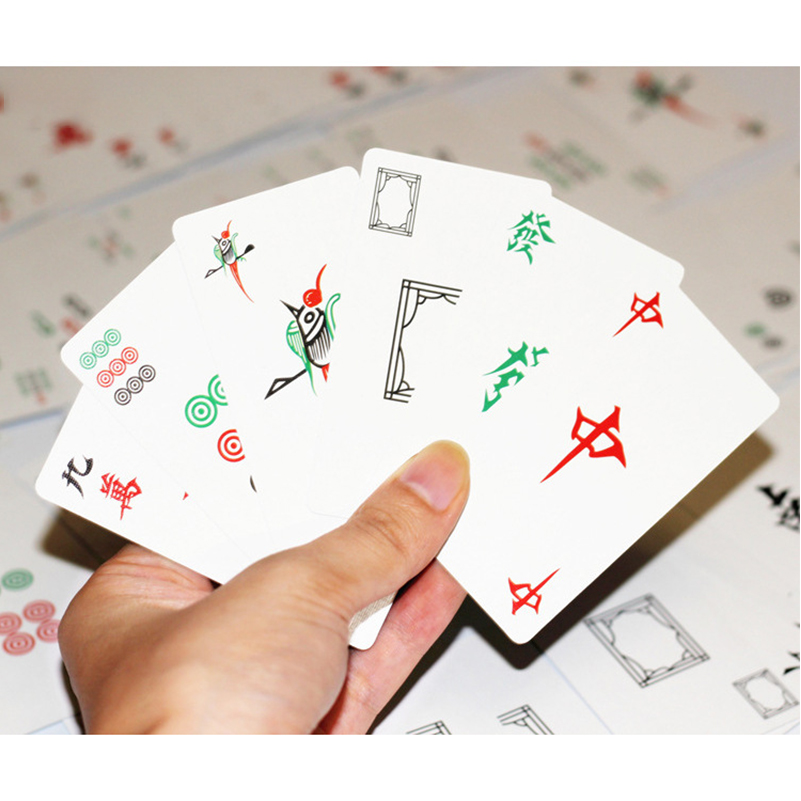 Top SaleCards-Toy Mahjong-Cards Game-Collection Traditional for Party-Play 144pcs Funny Chinese