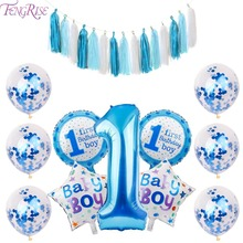 FENGRISE My First Birthday Balloon Air Number Confetti Balloons Baby Shower Boy Girl 1st Party Decorations Kids Ballons