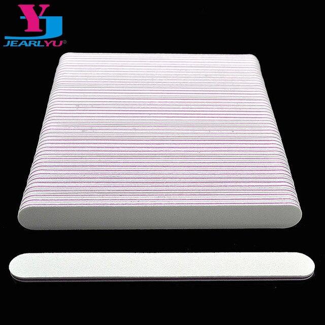 100 個のプロフェッショナルネイルファイルバッファーバ 100/180 UV イルジェルポリッシャードライヤー紙やすりマニキュアペディキュアマニキュアアートツール
