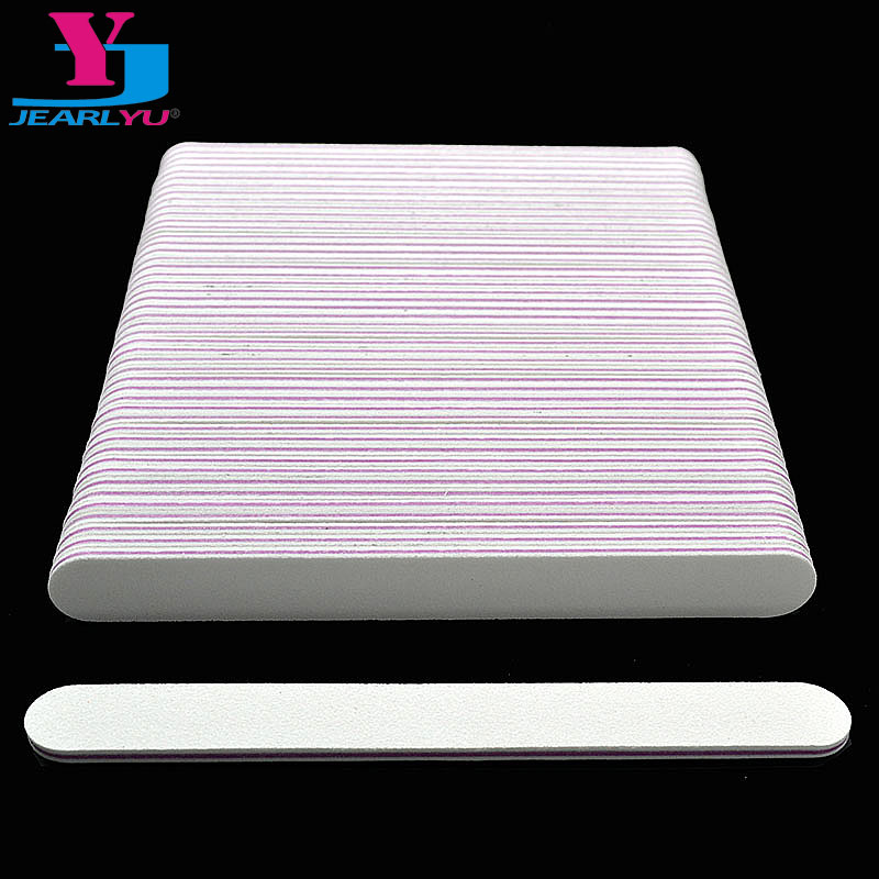 100Pcs Professional White Nail File Buffer Buffing 100/180 UV Gel Polisher Sandpaper Manicure Pedicure Nail Manicure Art Tools