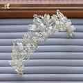 Очарование женщины корона кристалл rhinestone тиары невесты hairband классический девушка hairwear чародей головной убор свадебные аксессуары xb020