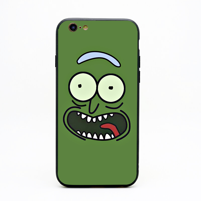 rick and morty backwoods soft Silicone black cover phone case for iPhone XS XR Max 6 7 8 plus 5 5s 6s se X Housing