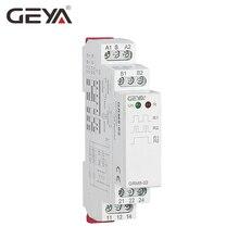 Бесплатная доставка Гея GRM8 din-рейку электронный реле с самоблокировкой памяти реле импульс реле SPDT 16A шаг реле AC230V или AC/DC12-240V