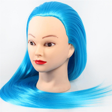 Mannequin Head With Hair Training Hairdressing Doll Mannequins Human Heads Female Dummy Yaki Synthetic