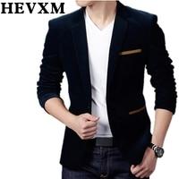 HEVXM New Boutique Clothing Men Blazer Fashion Cotton Suit Blazer Slim Fit Masculine Blazer Casual Solid