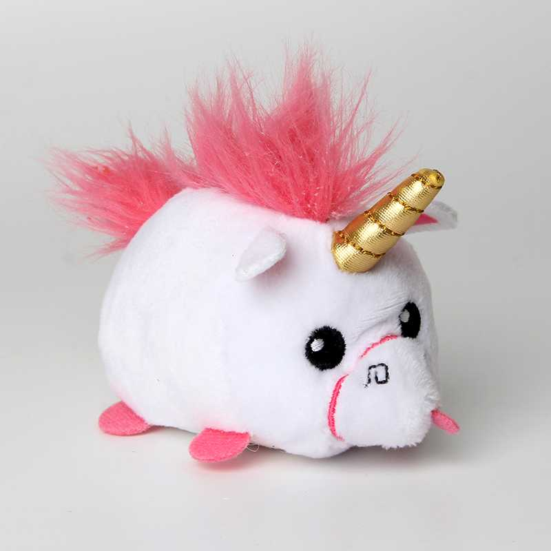 10cm Mini Beanie Hats Hiss Big Eyes Stuffed Animal Unicorn Fox Bag