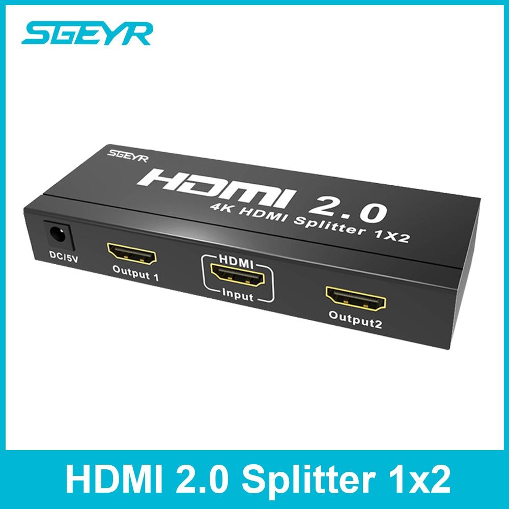 HDMI 2 0 Splitter, SGEYR 1×2 Porto HDMI Splitter Divisor 1
