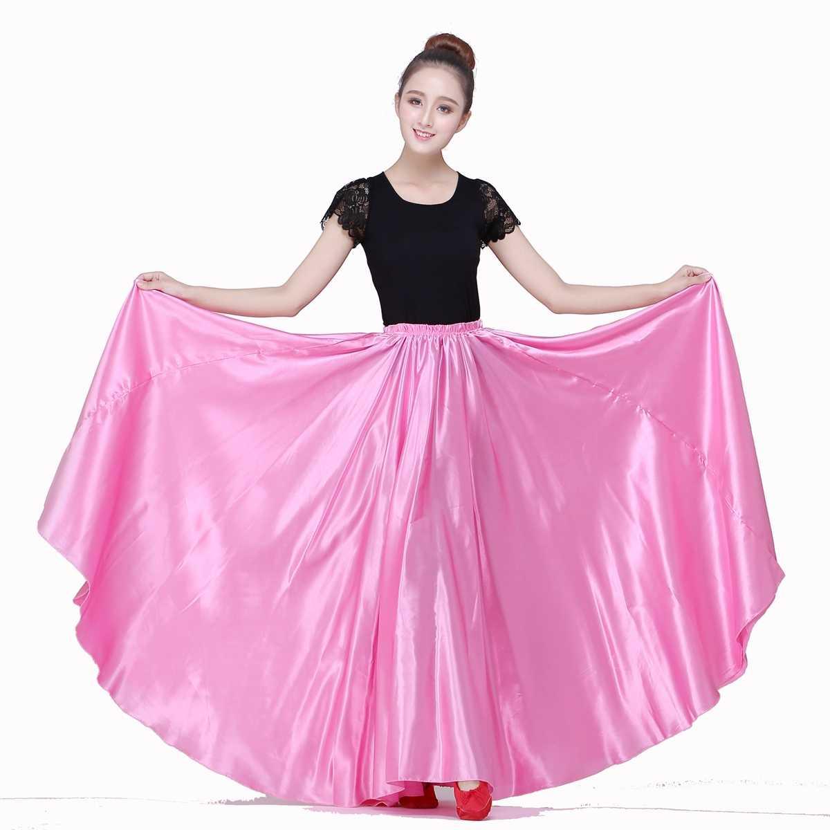Jupe Flamenco jupe de danse du ventre vêtements espagnols Costumes de danse espagnole pour les femmes haut et jupe 540 degrés livraison directe