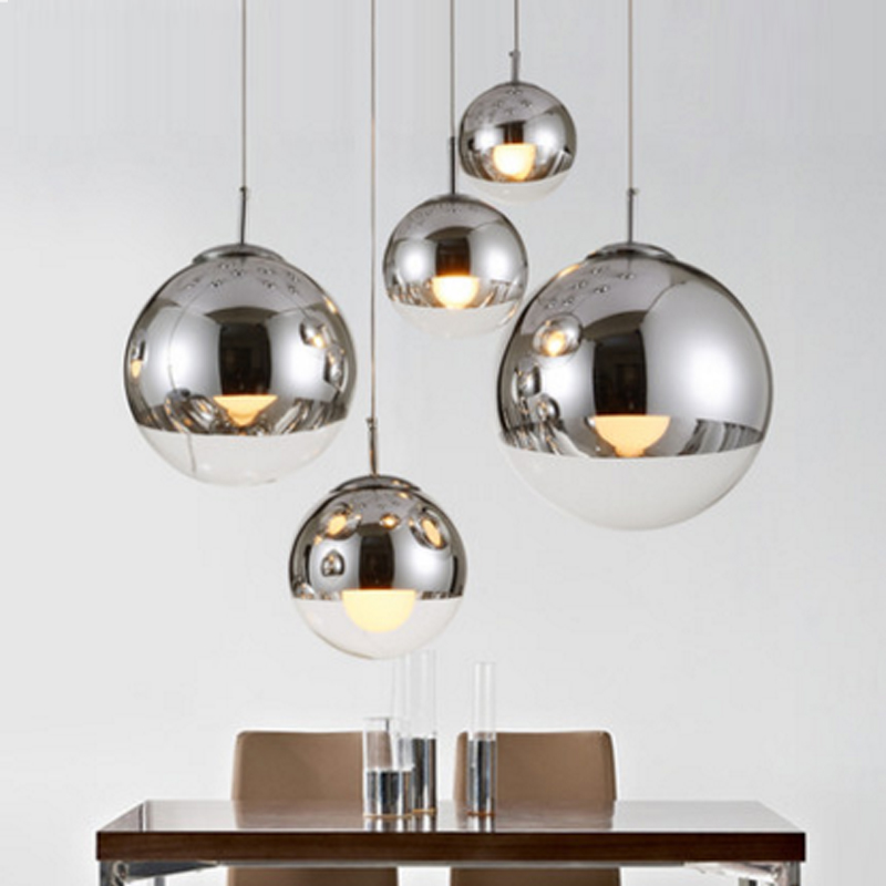 plated glass ball pendant lamp modern single pendant lamps energy saving lamp mirror glass hanging pendant lamp kichen lights modern mirror sliver glass pendant lights lustres spherical globle ball pendant lamps hanging light fixture luminaria