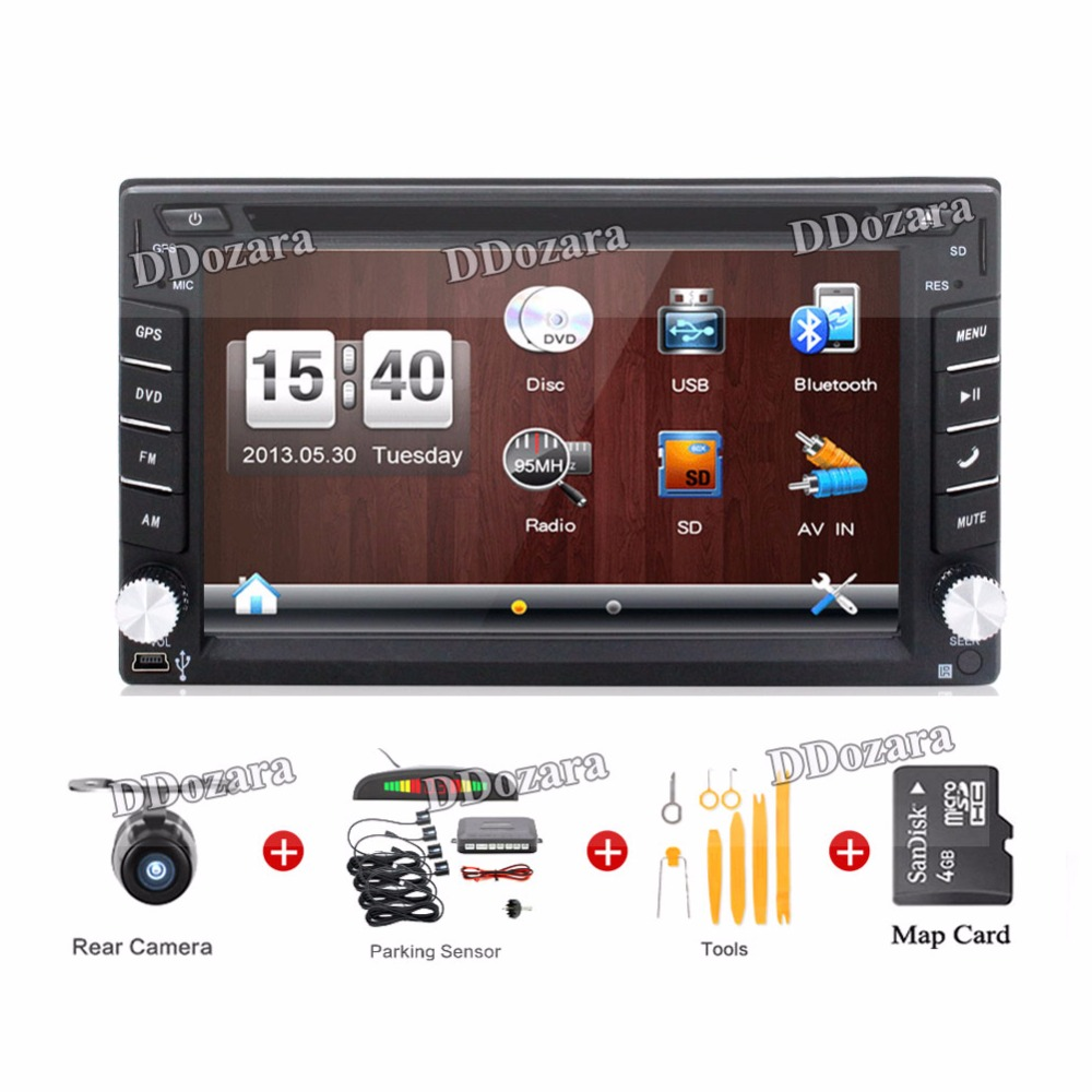 New universal Car Radio Double 2 Din Car DVD Player GPS Navigation In dash Car PC Stereo Head Unit video+Free Map subwoofer 2 din car dvd frame dashboard kits front bezel radio frame adaper dvd cover dash trim kit for kia rio 5 door rhd double din