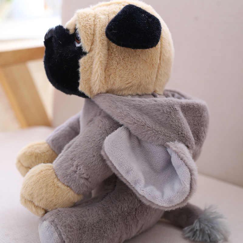Мопс плюшевая игрушка милая в виде животного мягкая набивная кукла собака Косплей динозавр слон дети игрушки День рождения Рождественский подарок для детей