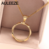 Special Craft Pure Jewelry Real 18K Yellow Gold Pendant Earrings Set Without Chain