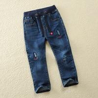 Patch Jeans For Boys Denim Pants Autumn Spring Kids Trousers Teenage Infant Pants Children 4 5 6 8 10 12 14 Years Boys Pants