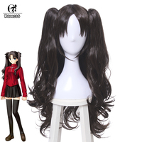 ROLECOS Fate/Stay Night Cosplay Rin Tohsaka Cosplay 50 70cm Black Ponytail Cosplay Hair Accessories Synthetic Hair