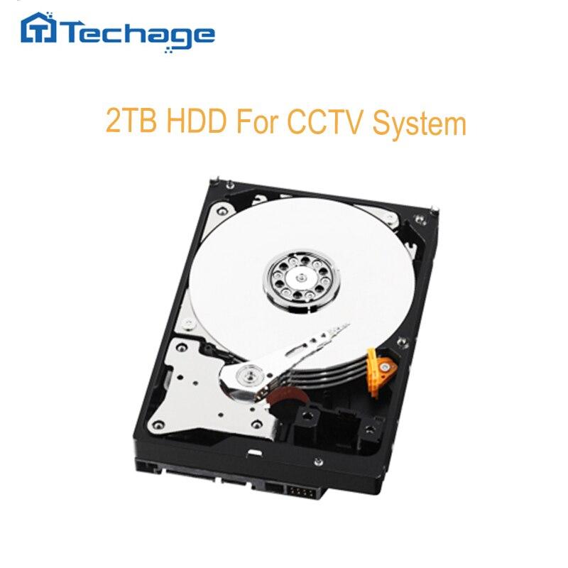 imágenes para Techage SATAIII unidad de Disco Duro HDD de 2 TB 2000 GB 64 MB 7200 rpm para CCTV NVR DVR Sistema de Seguridad Kits de cámara de Video Vigilancia