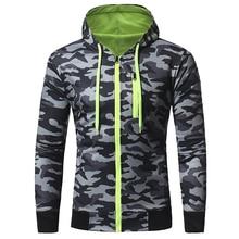 где купить 2018 New Autumn Hoodies Men Fashion Brand Zipper Camouflage Hooded Sportswear Sweatshirt Men 'S Tracksuits Moleton Xxxl по лучшей цене