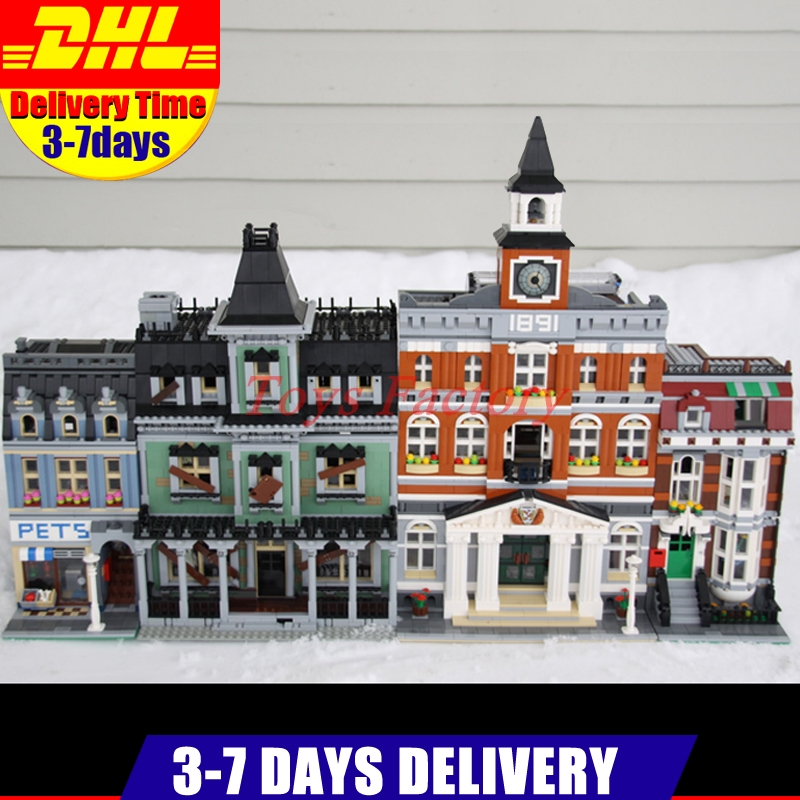 IN Stock DHL LEPIN 15003 Town Hall+15009 Pet Shop+16007 Monster Fighters Haunted House Clone 10228 10218 10224