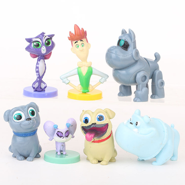 And Great Variety Of Designs And Colors Full Range Of Specifications And Sizes 7pcs/lot Puppy Dog Pals Bingo Rolly Figure Toys Pugs Brothes Dogs Model Anime Doll Furnishing Toy Kids Christmas Gifts Famous For High Quality Raw Materials