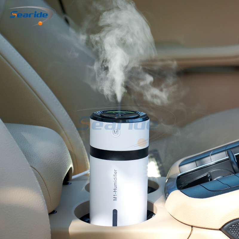 230ML Ultrasonic Humidifier Air Purifier for Home Car Essential Aromatherapy Diffusers Humidifiers Humificador with Night Light wholesale solar energy air humidifier car air purifier with filtration system