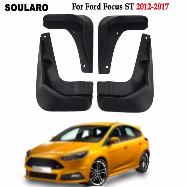 For Ford Focus St 2017 2016 Front Rear Fender Splash Guards Rubber Mud Flaps Car Mudguards Accessories