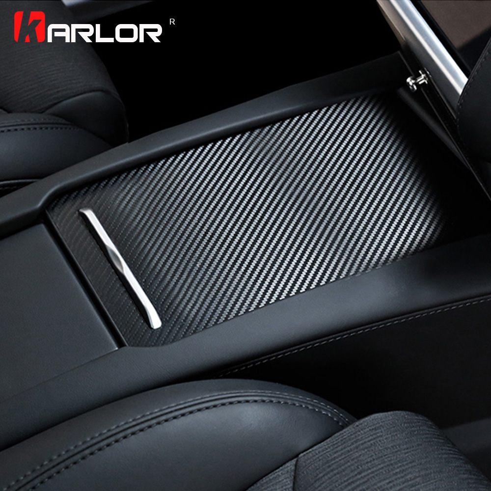 3Pcs Stainless Steel Real Carbon Fiber Box Control Panel Decoration Decal