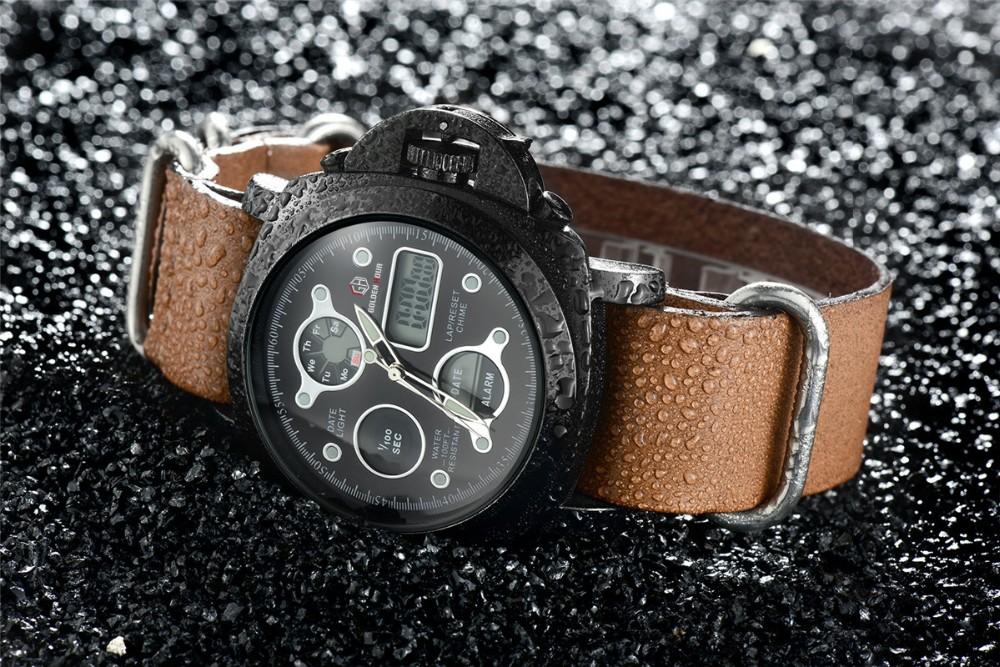 ผู้ชายแฟชั่นW Ristwatcheหรูหราร้อนแบรนด์ฉลามนาฬิกาสไตล์ผู้ชายสายหนังนาฬิกากีฬานาฬิกาที่มีคุณภ... 14