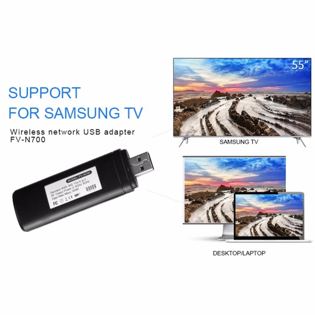 Yüksek kalite usb TV kablosuz Wi Fi adaptörü Samsung akıllı TV için WIS12ABGNX WIS09ABGN 300M