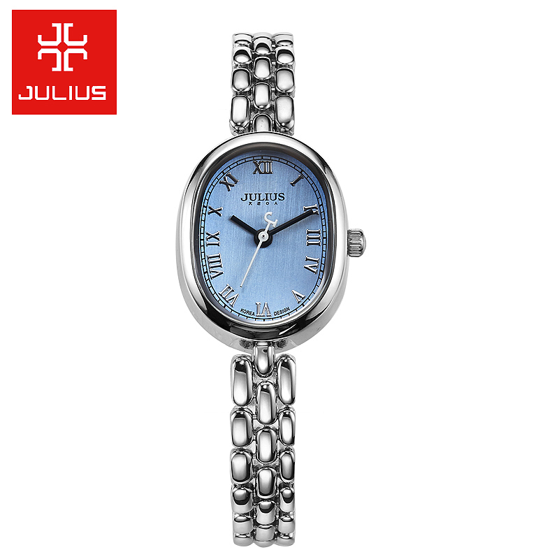Julius Women's Watch Japan Quartz Hours Cute Stone Fine Fashion Dress Chain Bracelet Simple Birthday Girl Christmas Gift Box цена и фото